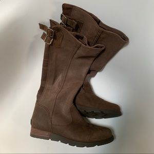 Sorel Tall Leather Brown Waterproof Boots